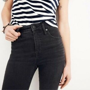"Madewell Tall 9"" High-Rise Skinny: Black Frost"